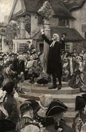 Hatherell, William, 1855-1928; John Wesley Preaching from the Steps of a Market Cross