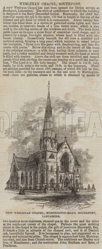 New Wesleyan Chapel, Mornington-Road, Southport, Lancashire