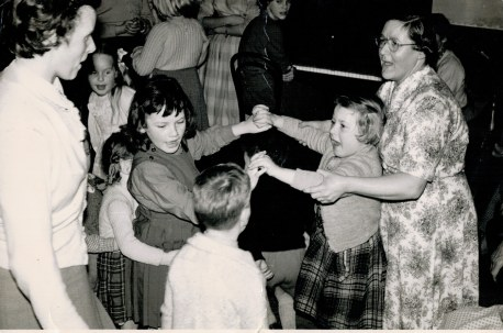 jan1960 party.pianist audrey woodcock. 2 adults phyllis fairclough lily williamson
